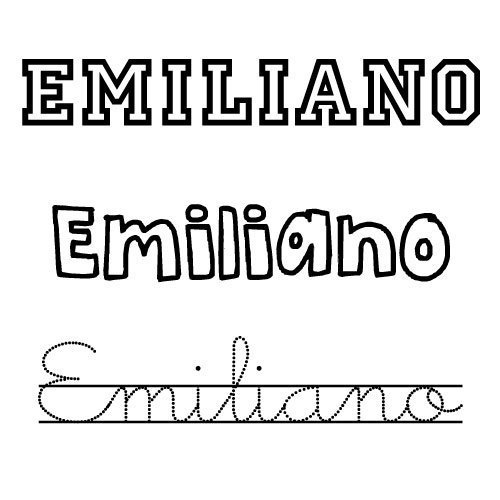 Dibujo del nombre emiliano para colorear nombres del - Nombres de ninos para colorear ...