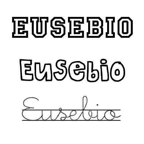 Dibujo del nombre Eusebio para imprimir y pintar