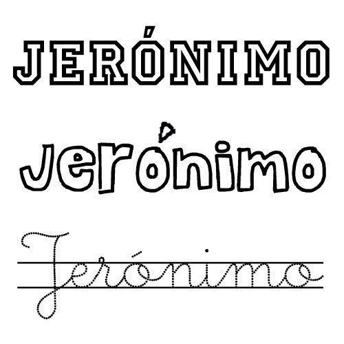Dibujo del nombre Jerónimo para colorear