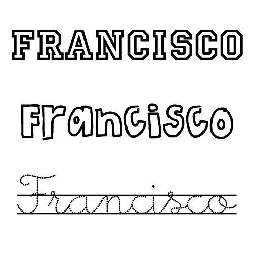 Dibujo para colorear del nombre Francisco
