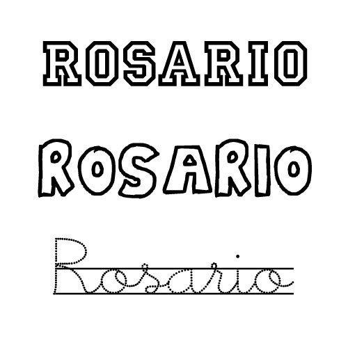 Dibujo para colorear del nombre Rosario