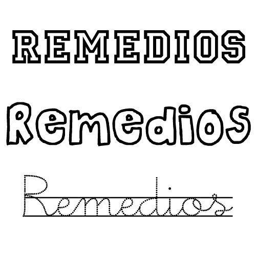 Dibujo para colorear del nombre Remedios
