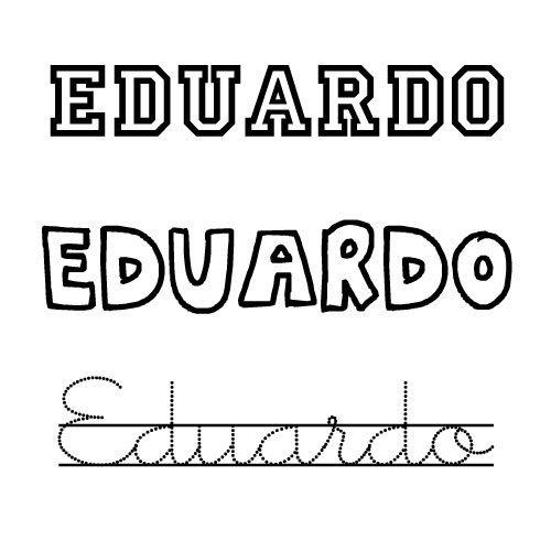 Dibujo del nombre Eduardo para imprimir y pintar