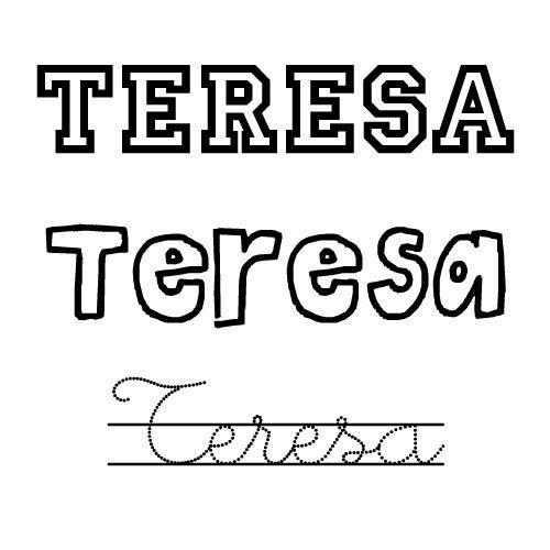 Dibujo para colorear del nombre Teresa