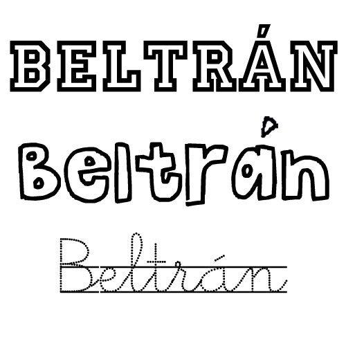 Dibujo para colorear del nombre Beltrán