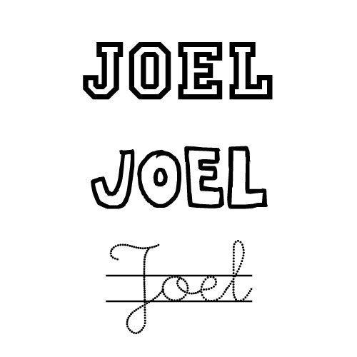 Dibujo para colorear del nombre Joel