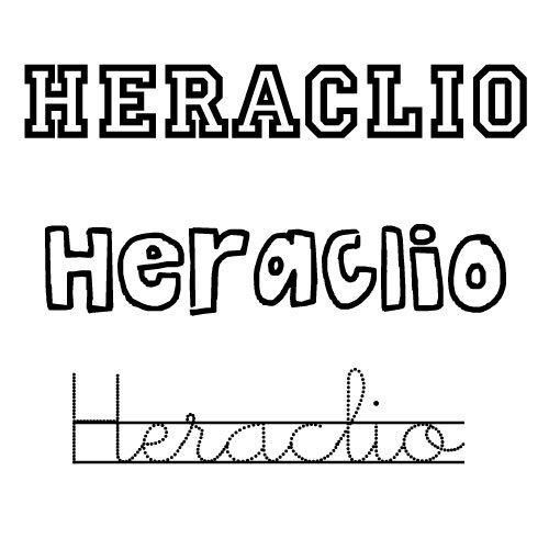 Dibujo del nombre Heraclio para colorear