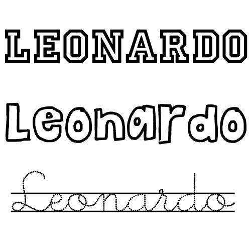 Dibujo del nombre Leonardo para colorear