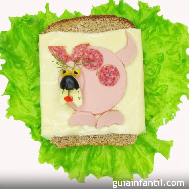 2- Sándwich de jamón y queso: don perro