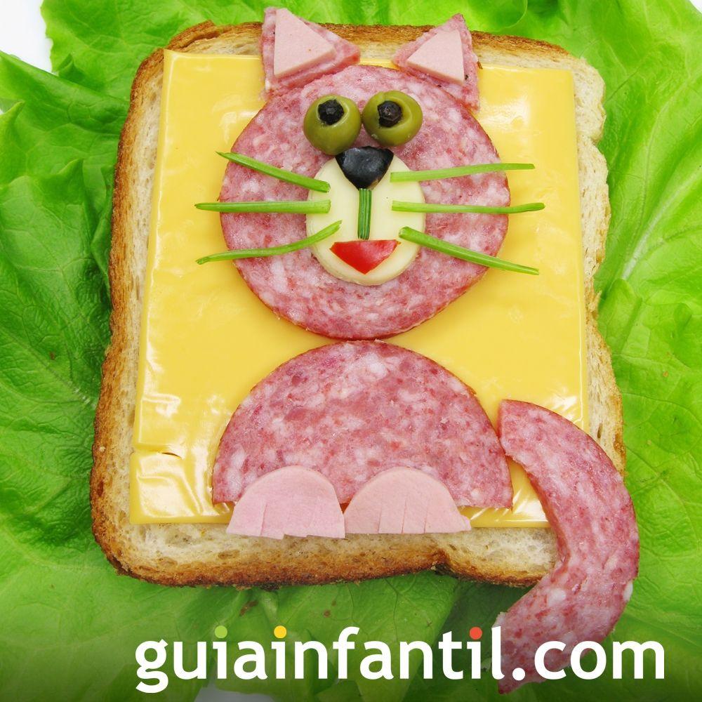 5- Sándwich de jamón y queso: gato