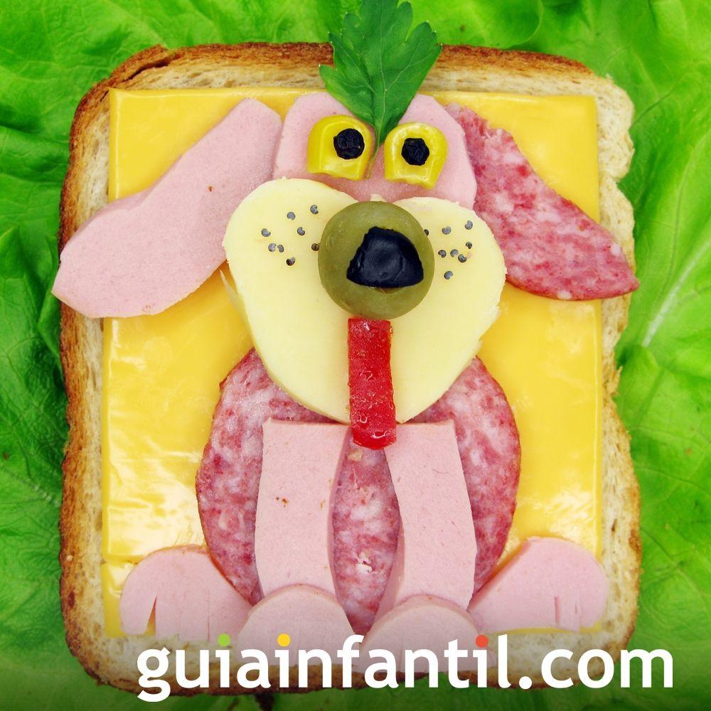 6- Sándwich de jamón y queso: perro