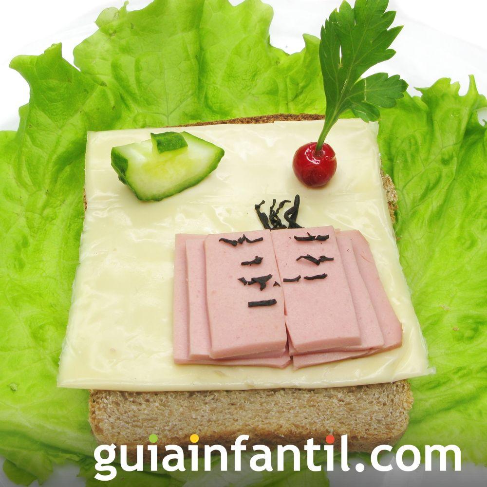 15- Sándwich de jamón y queso: libro de cuento