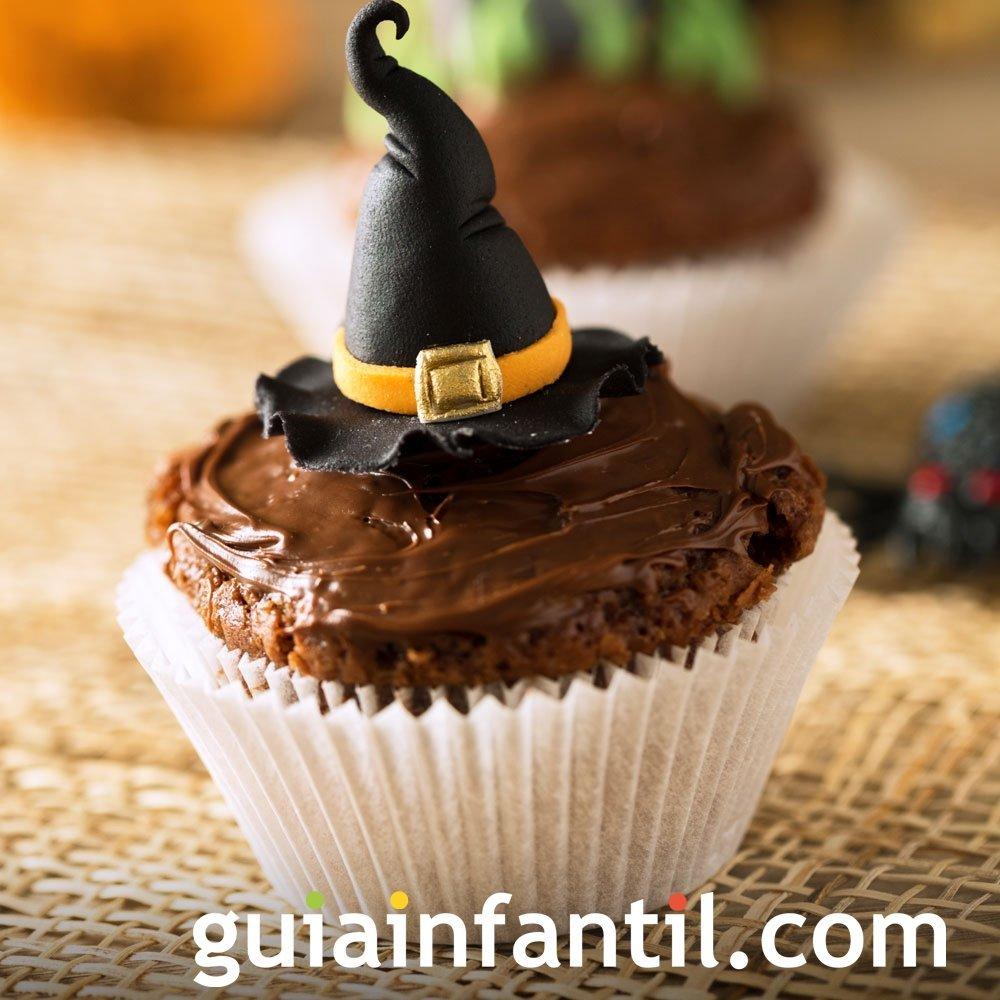 Muffins de bruja para Halloween