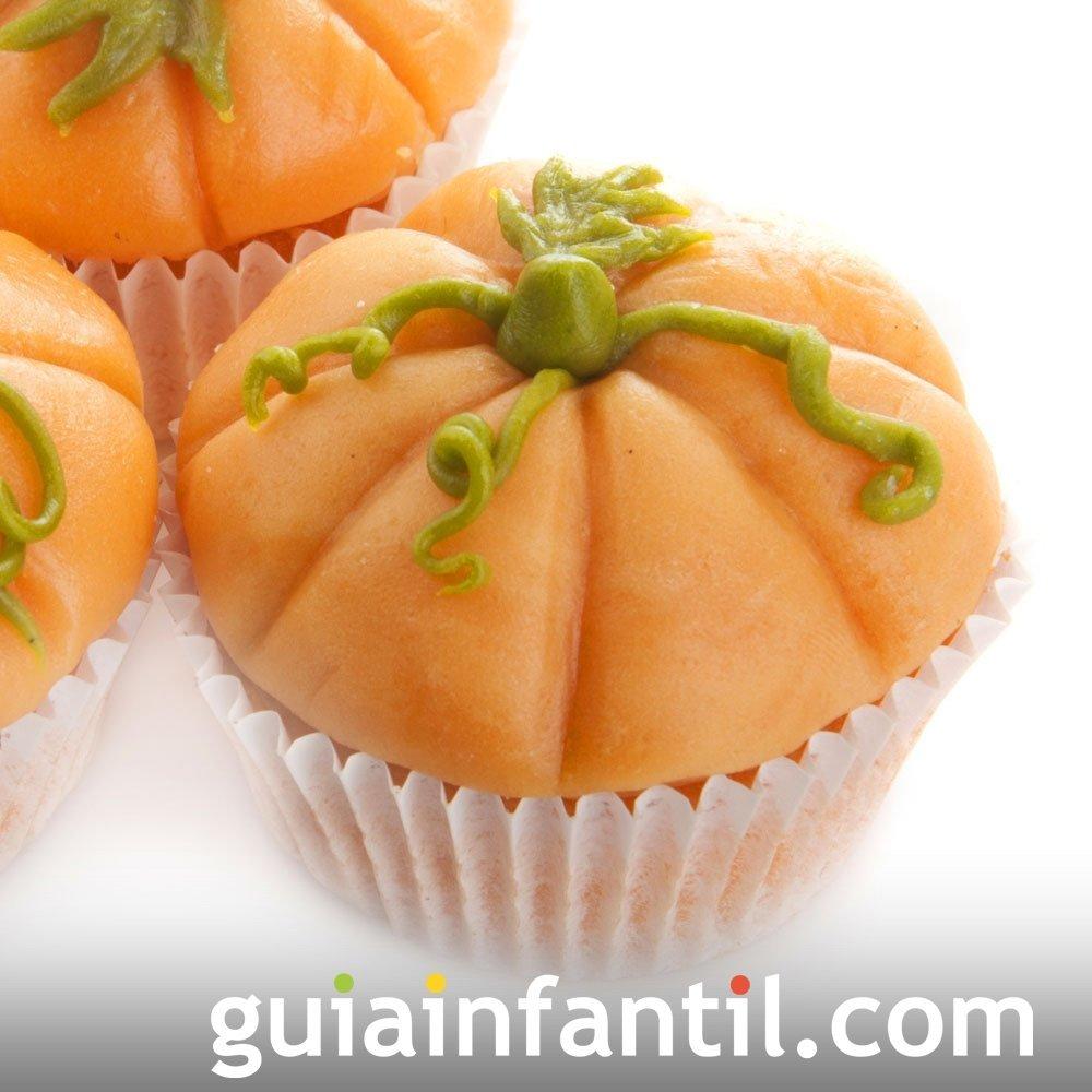 Muffin con forma de calabaza para Halloween