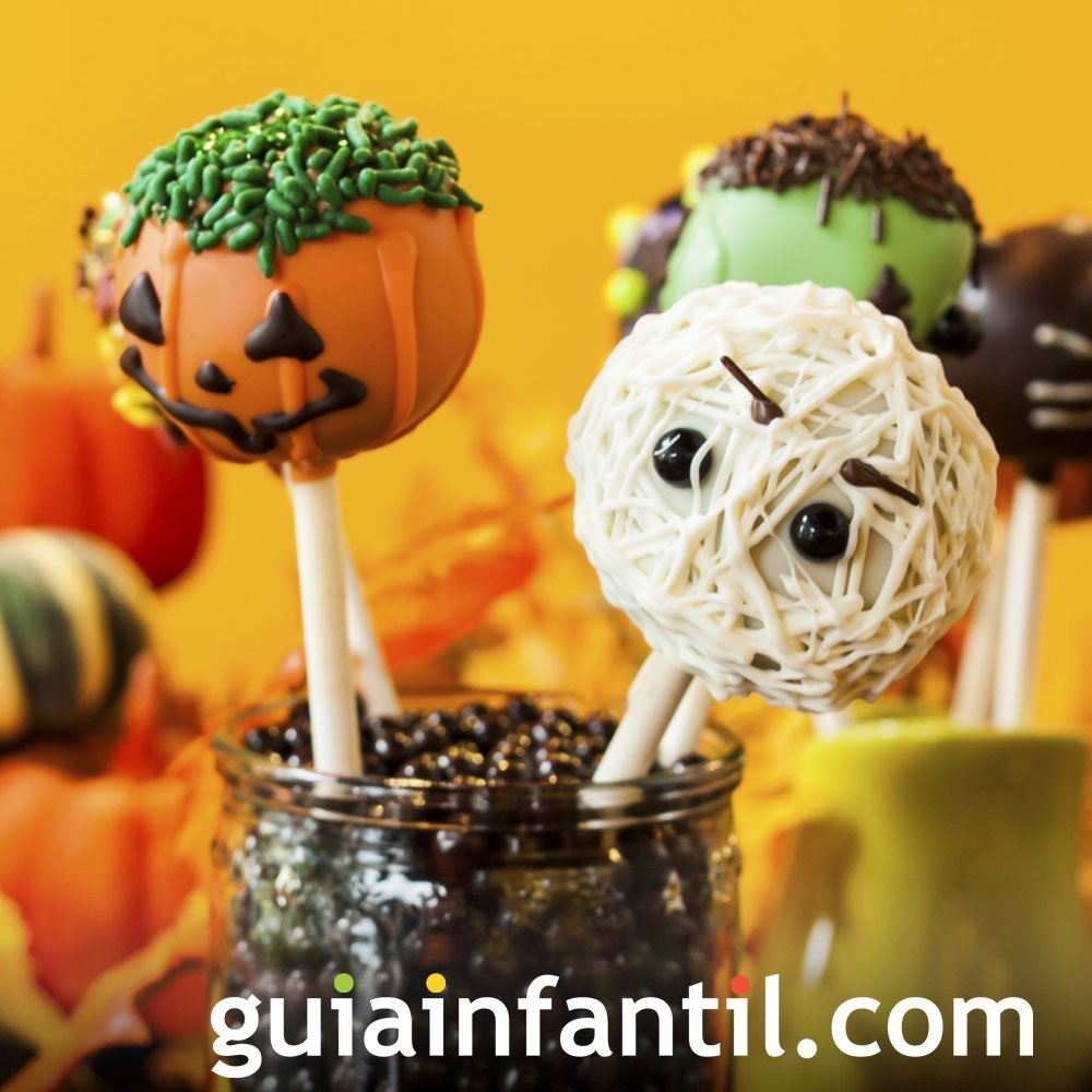 Cómo hacer cake pops de Halloween para niños