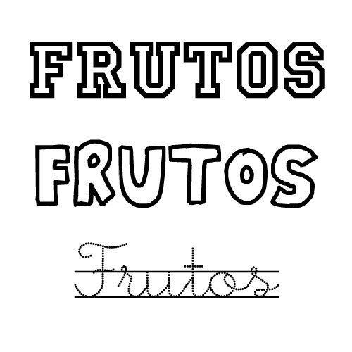 Dibujo del nombre Frutos para colorear