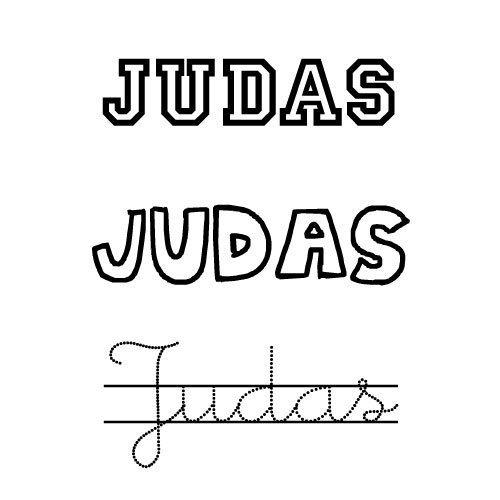Dibujo del nombre Judas para colorear