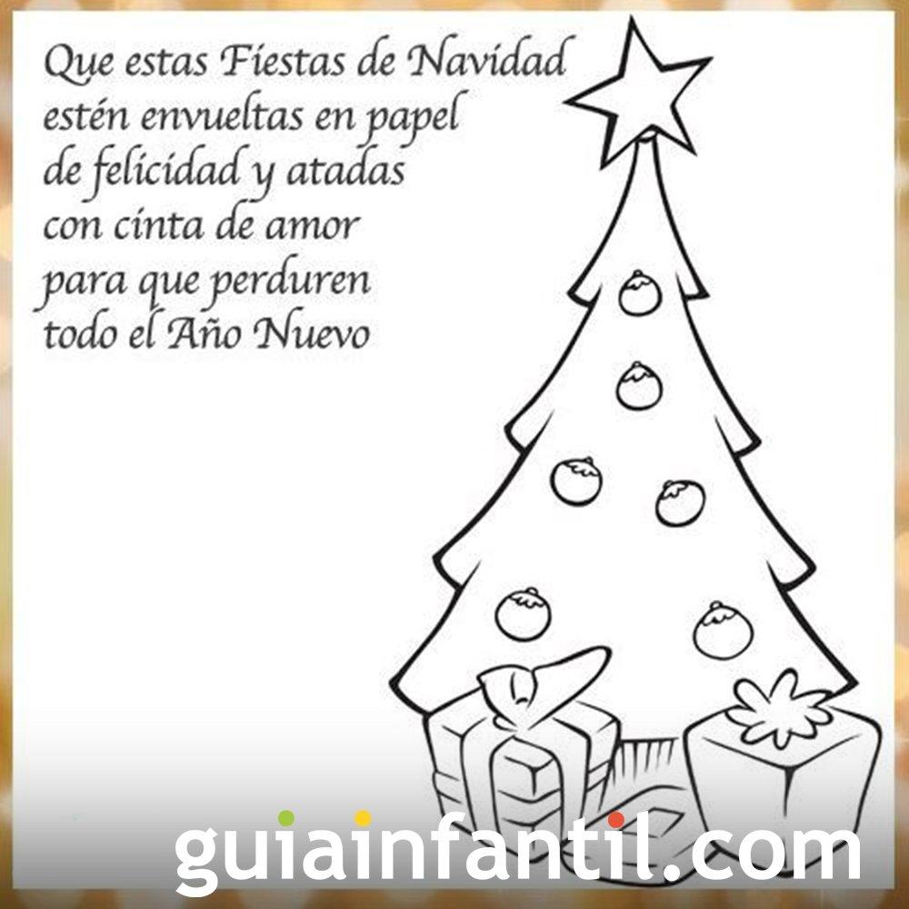 árbol De Navidad Para Imprimir Con Una Frase De Navidad