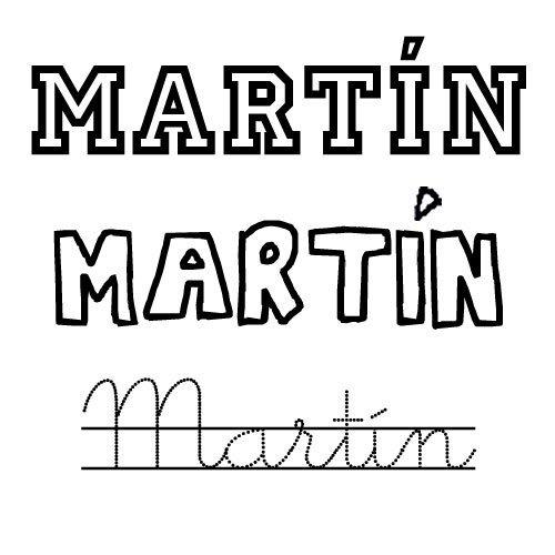 Dibujo para colorear del nombre Martín