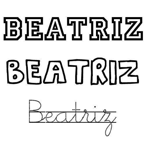 Dibujo para colorear del nombre Beatriz