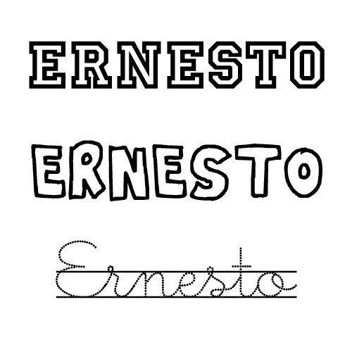 Dibujo para colorear del nombre Ernesto