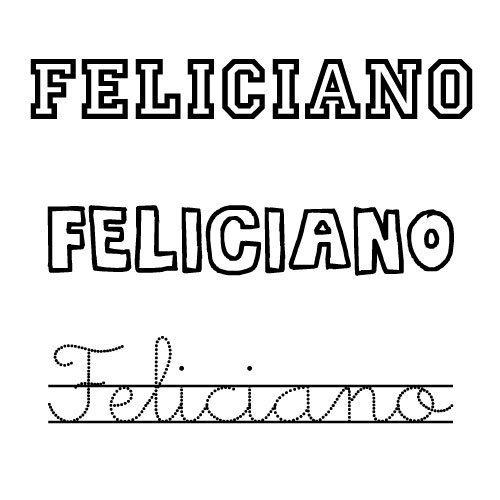 Dibujo para colorear del nombre Feliciano