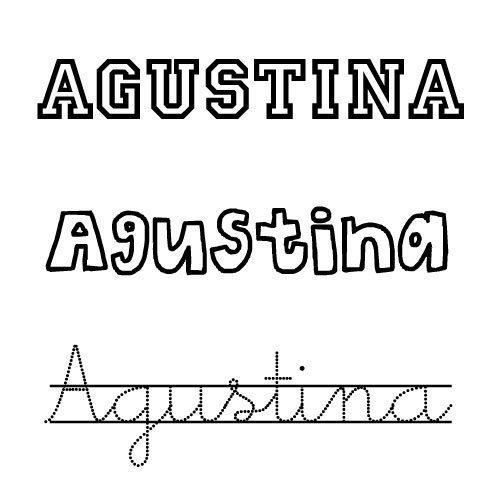 Dibujo del nombre Agustina para colorear