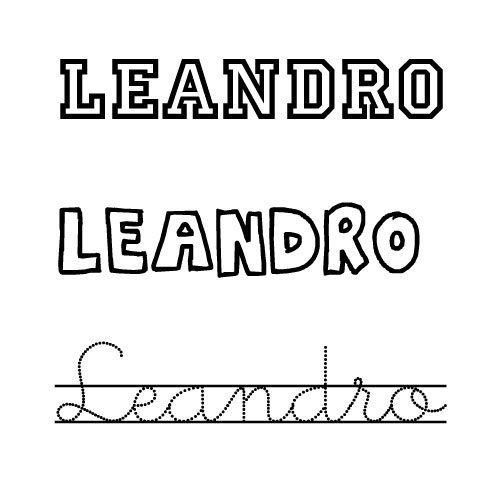 Dibujo para colorear del nombre Leandro