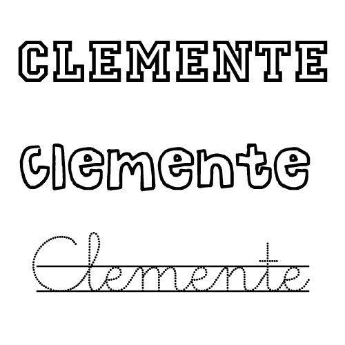 Dibujo para colorear del nombre Clemente