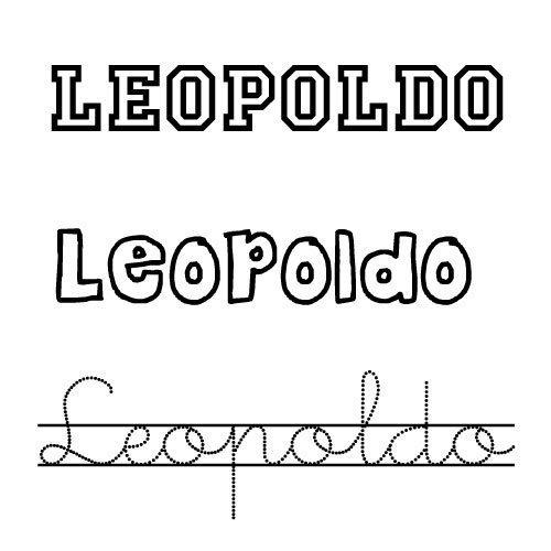 Dibujo para colorear del nombre Leopoldo