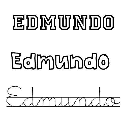 Dibujo para colorear del nombre Edmundo