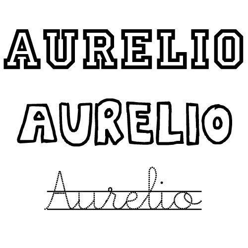 Dibujo para colorear del nombre Aurelio