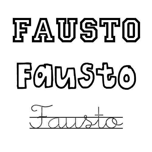 Dibujo para colorear del nombre Fausto