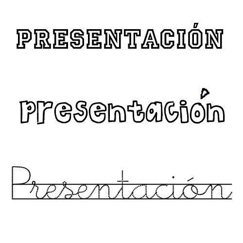 Dibujo para colorear del nombre Presentación