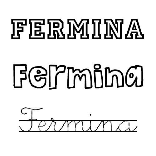 Dibujo para colorear del nombre Fermina