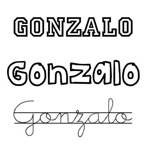 Dibujo para colorear del nombre Gonzalo