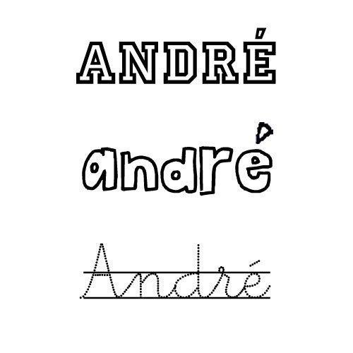 Dibujo del nombre André para colorear