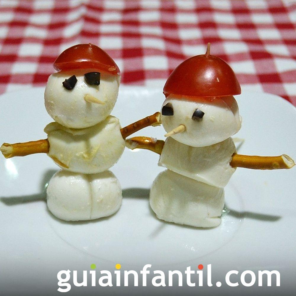 Canapé navideño con forma de muñeco de nieve