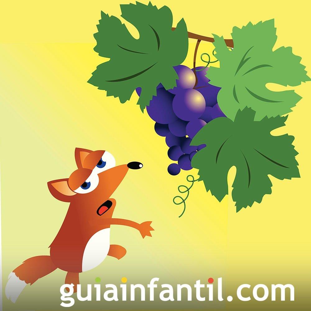 La zorra y las uvas. Fábula sobre la sinceridad