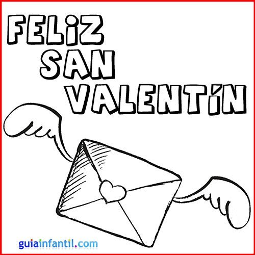 Tarjetas De San Valentín Para Imprimir Y Colorear