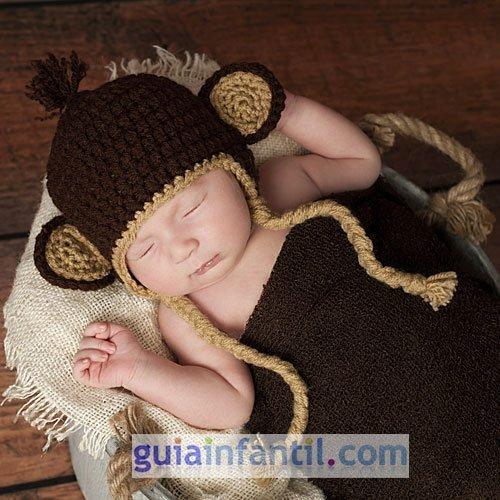 Disfraz de mono de punto para bebés