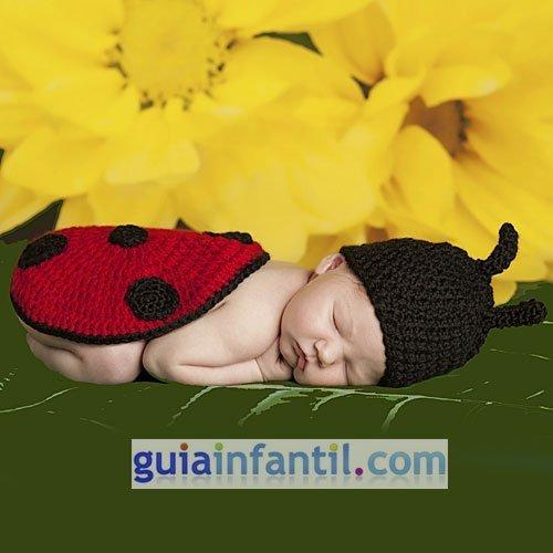 Disfraz de mariquita de punto para bebés
