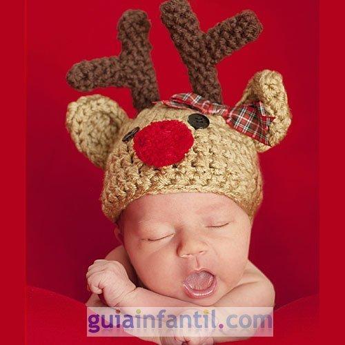 disfraz de punto para bebs reno
