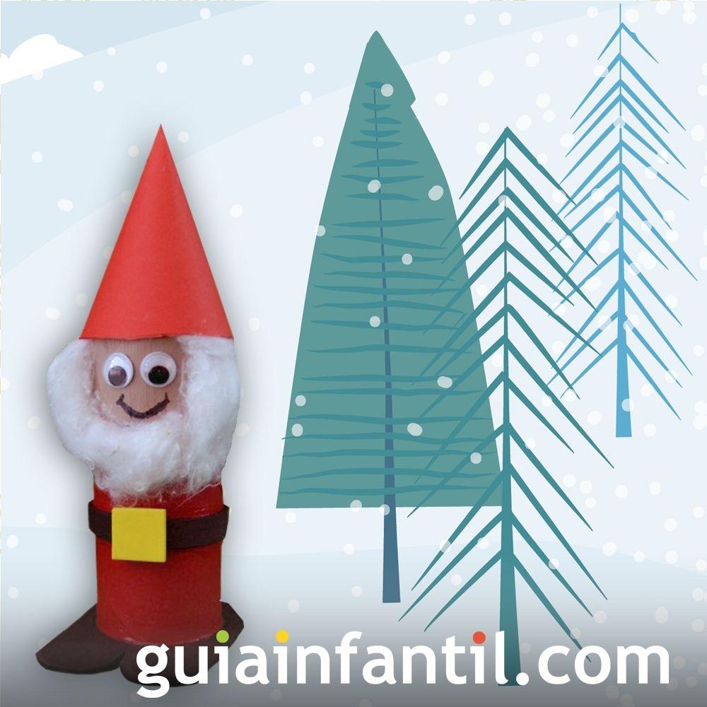 Papá Noel con rollo de papel higiénico