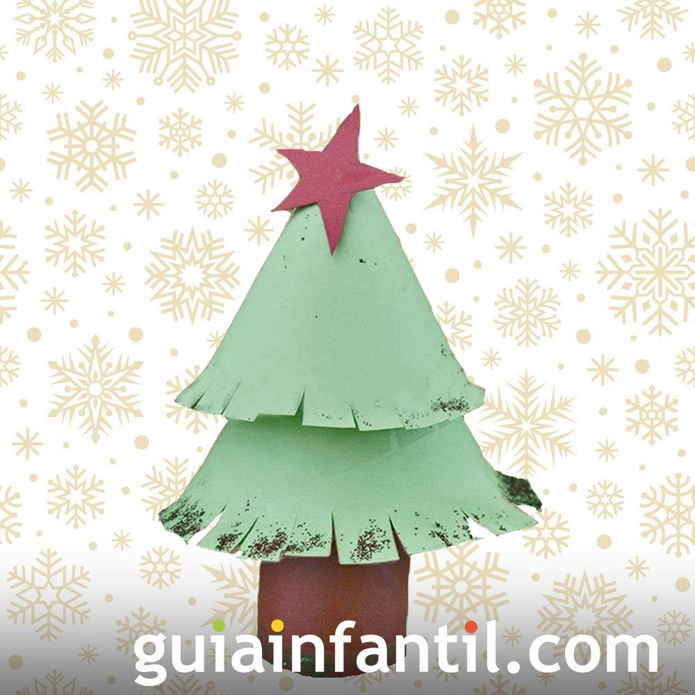 Árbol de Navidad con rollo de papel higiénico