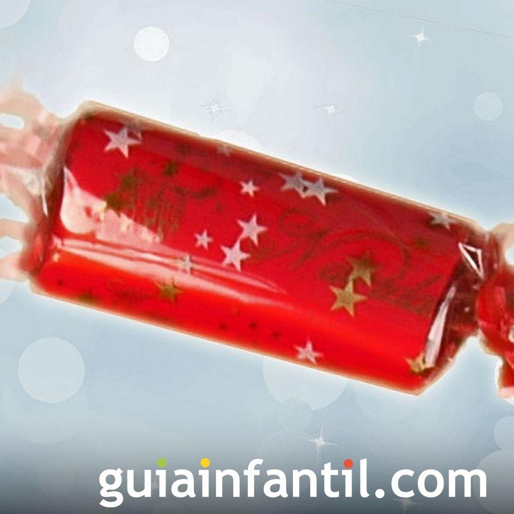Envoltorio para regalos con forma de caramelo