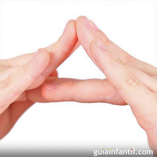 Cómo hacer la letra A con las manos