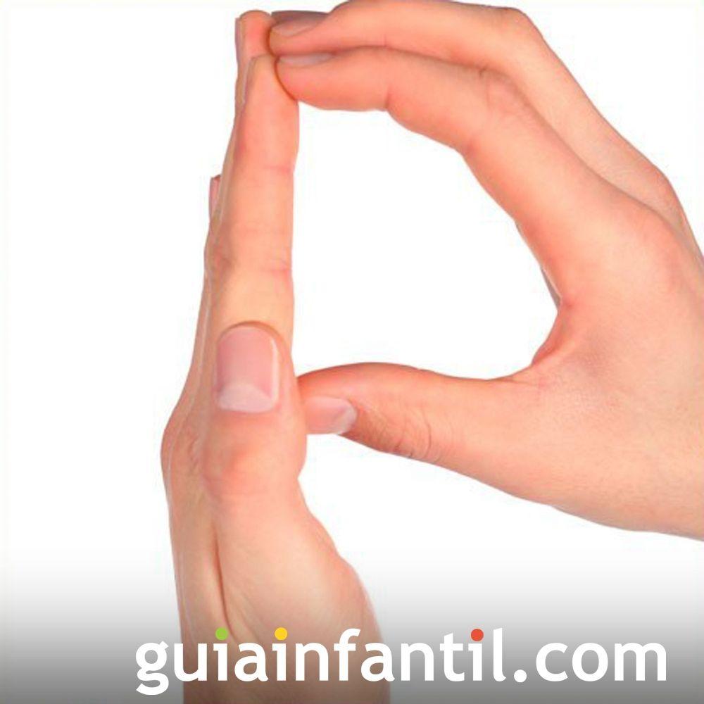 Aprende a hacer la letra P con las manos