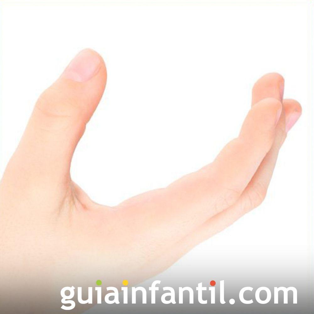 Hacer la letra U con las manos de los niños