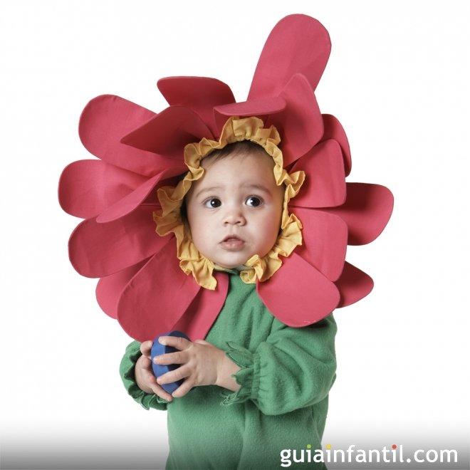 disfraz de flor para bebs